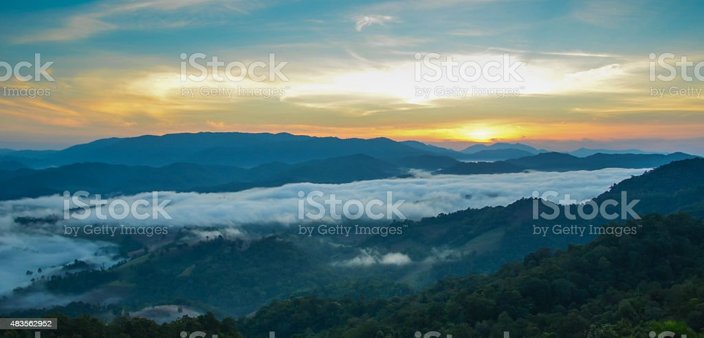 landscape in late summer with sunshine royalty-free stock photo