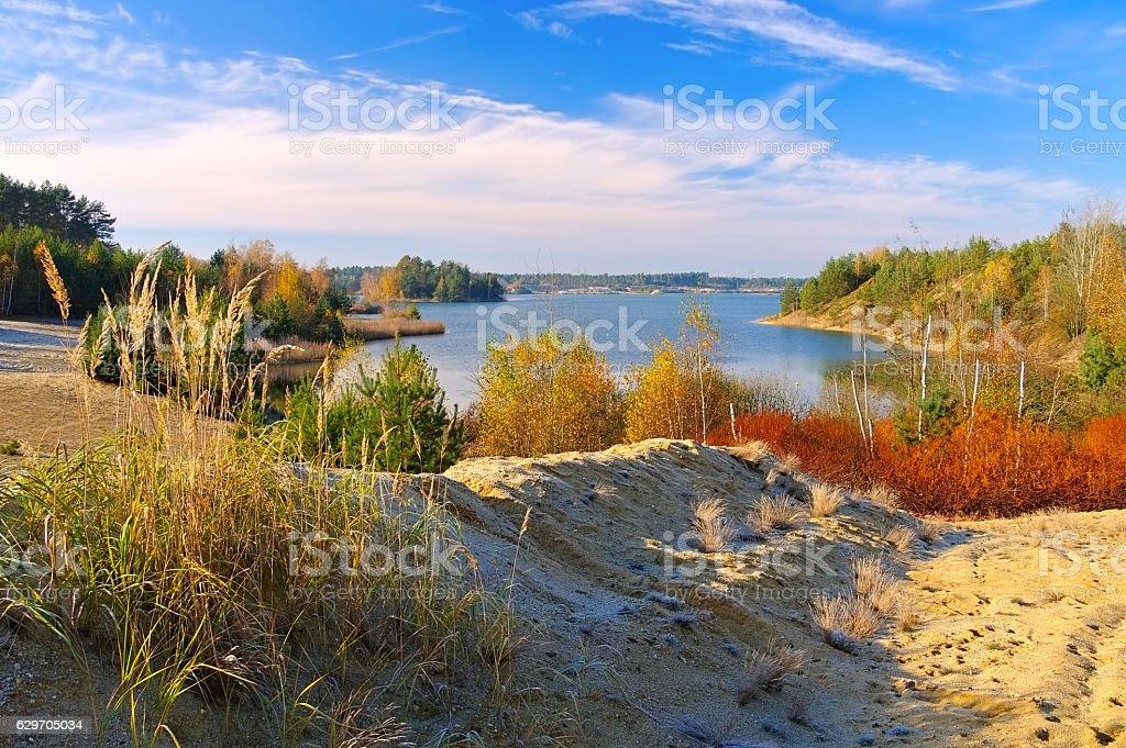 landscape in Lusatia stock photo