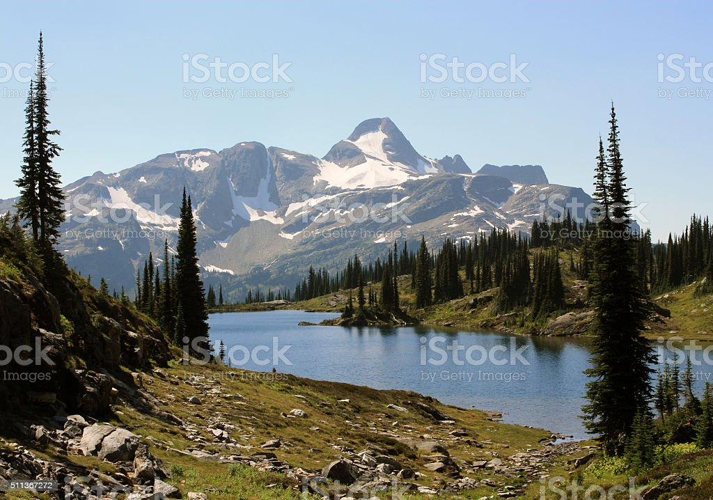 Landscape in Monashee Mountains, BC, Canada. stock photo