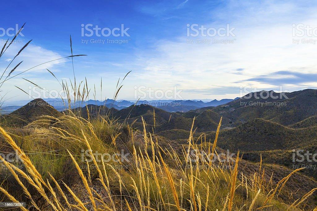 Landscape in Murcia, Spain stock photo