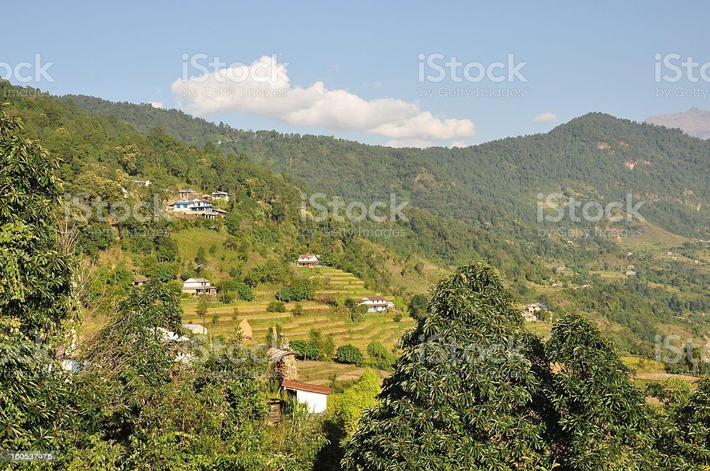 Landscape in Nepal royalty-free stock photo