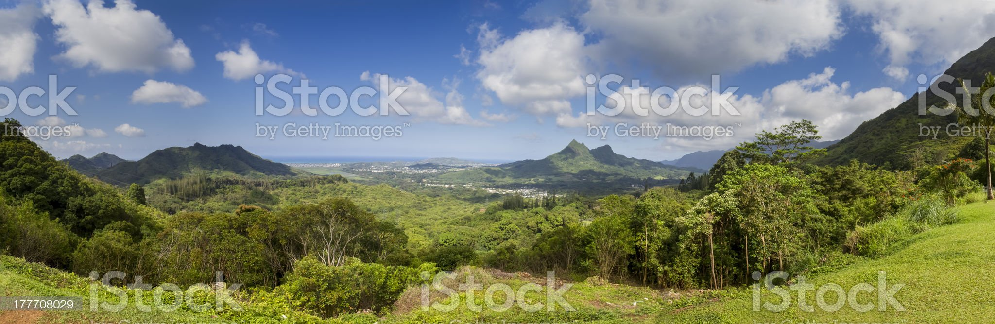 Landscape in Oahu, Hawaii royalty-free stock photo