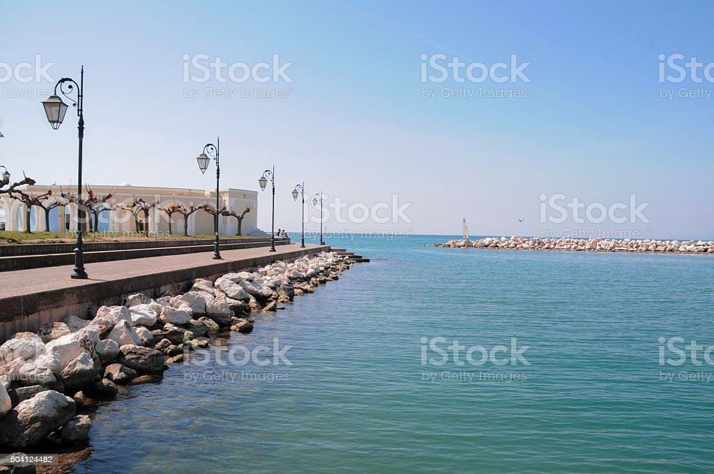 Landscape in Patras,Greece stock photo