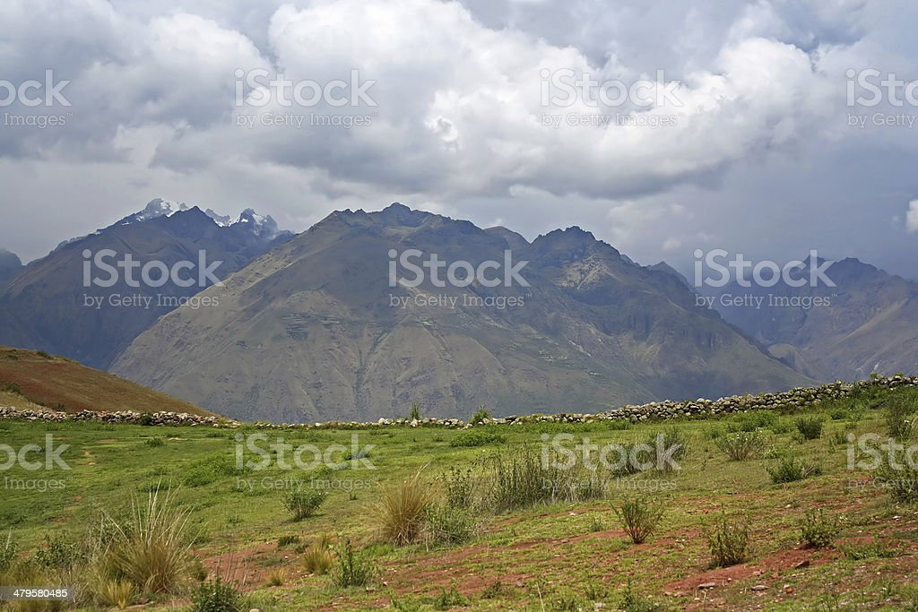 Landscape in Peru, South America stock photo