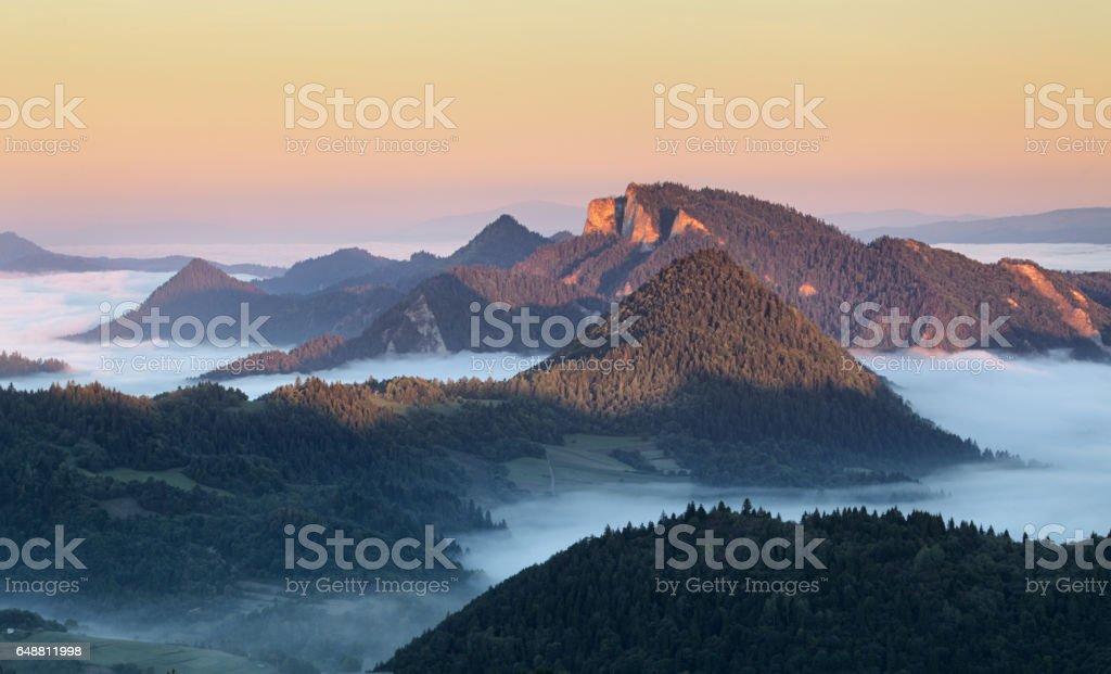 Landscape in Pieniny, Slovakia stock photo