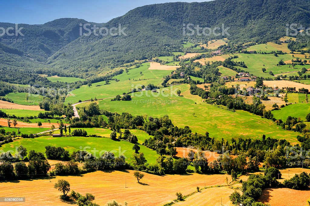 Landscape in Romagna (Italy) stock photo