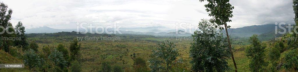 Landscape in Rwanda stock photo