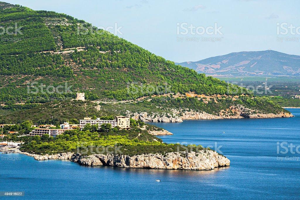 Landscape in Sardinia stock photo