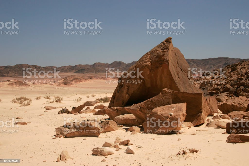 Landscape in Sinai stock photo
