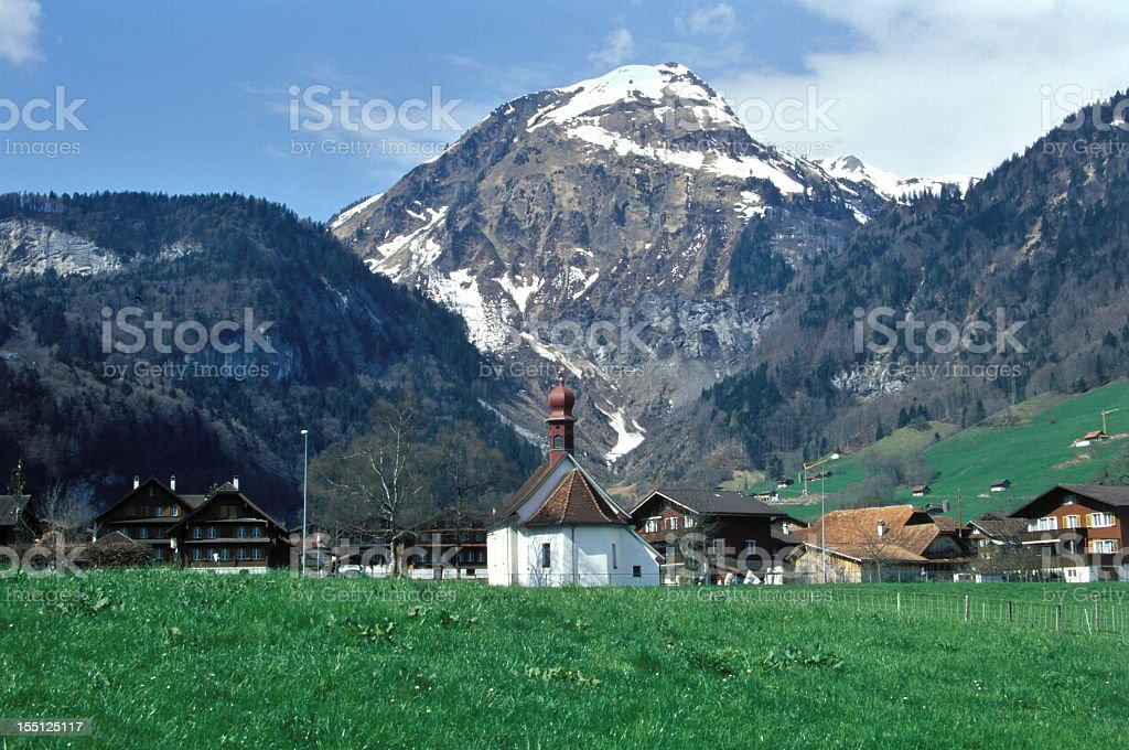 Landscape in Swiss alps royalty-free stock photo