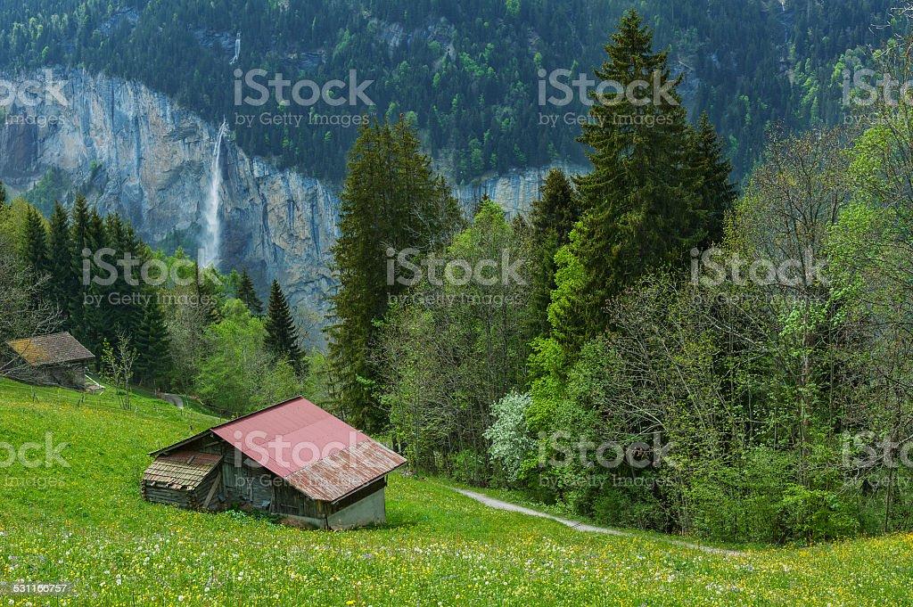 Landscape in Switzerland stock photo