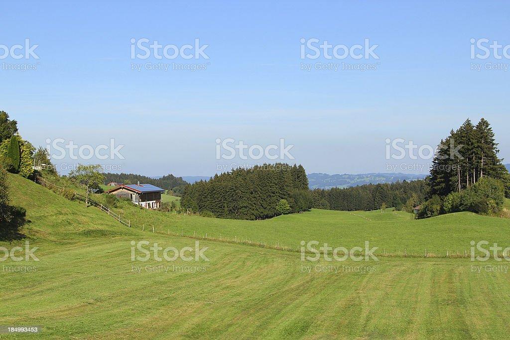 Landscape in the Allgäu royalty-free stock photo