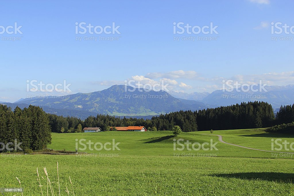 Landscape in the Allgäu royalty-free stock photo