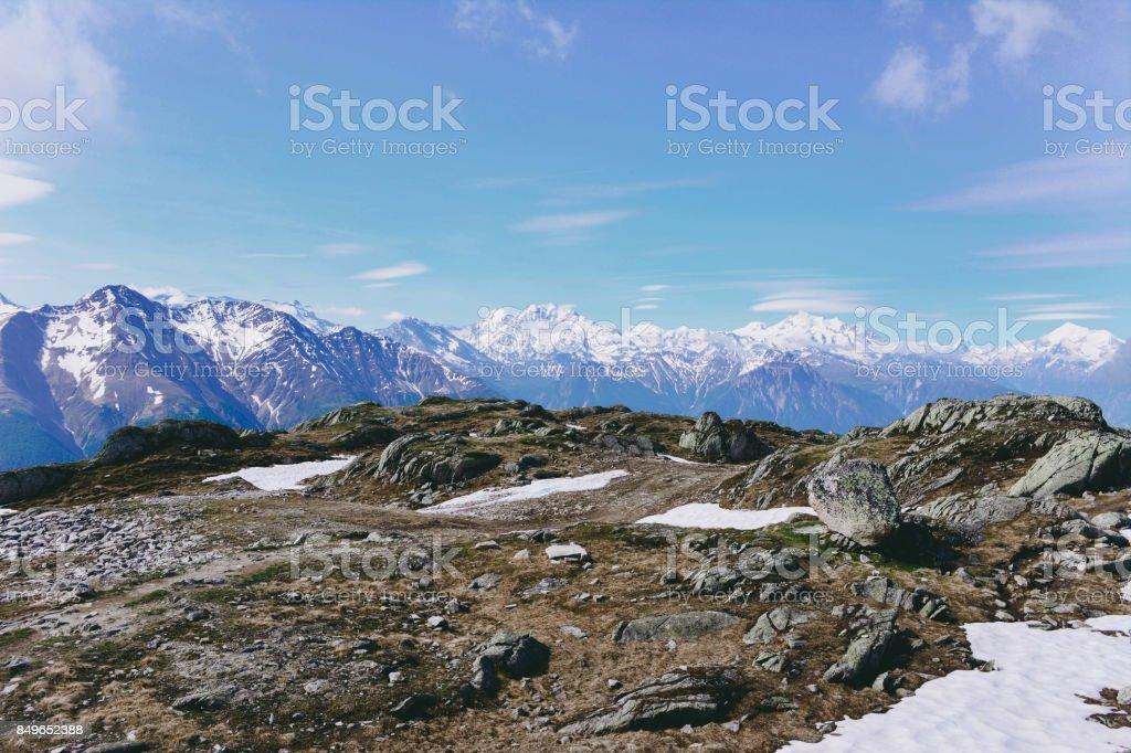 Landscape in the Alps. stock photo