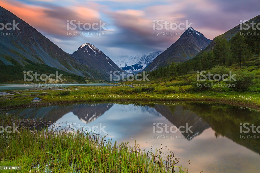 Landscape in the Altai Mountains stock photo