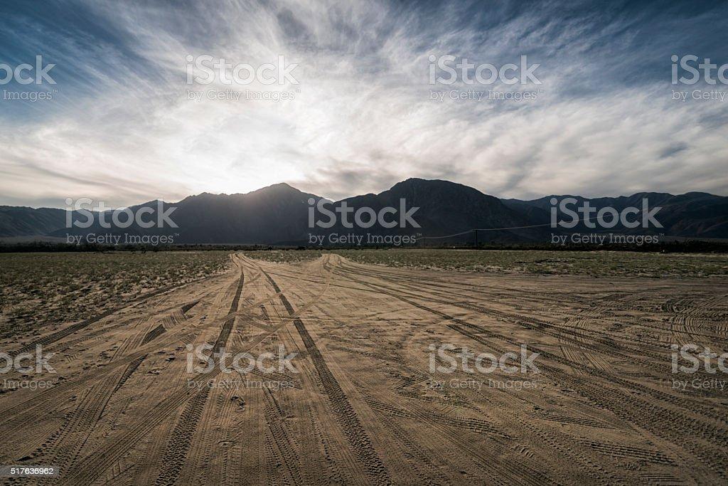 Landscape in the Anza-Borrego Desert stock photo