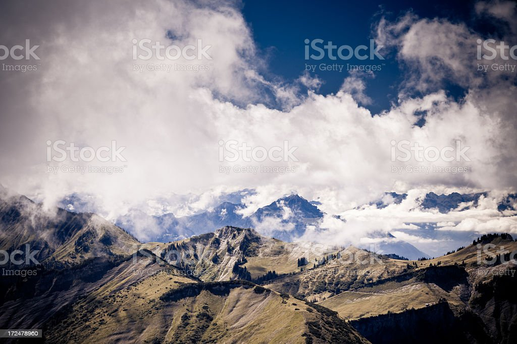 landscape in the austrian alps near mellau royalty-free stock photo