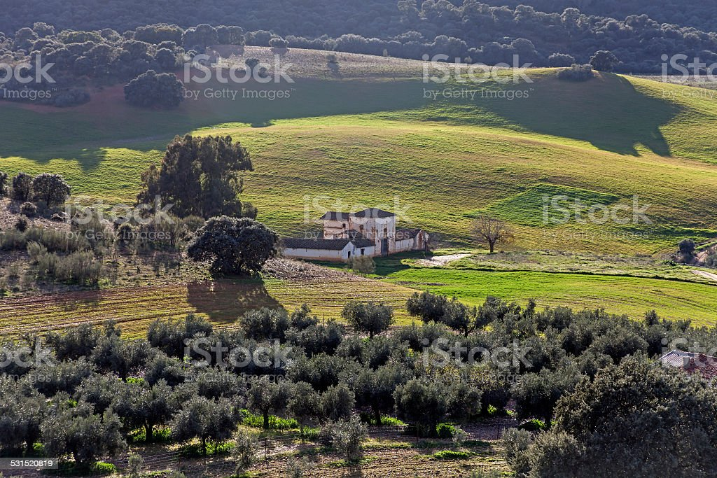 Landscape in the Extremadura stock photo