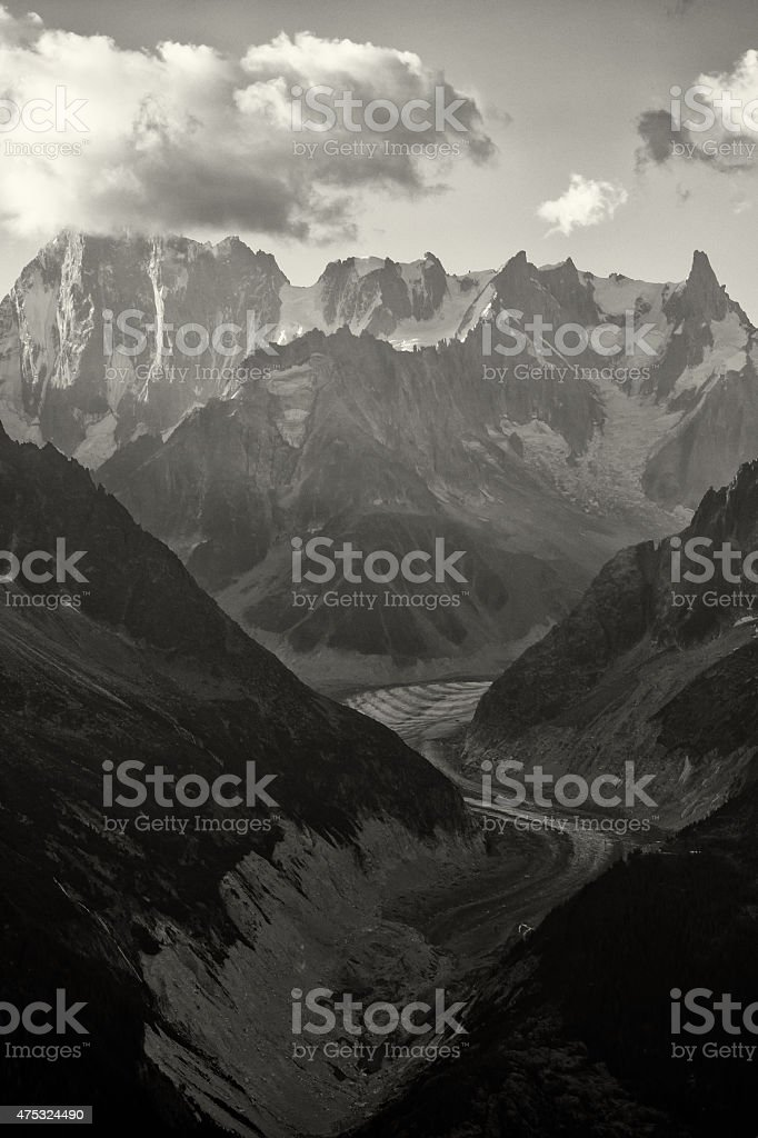 Landscape in the French Alps stock photo