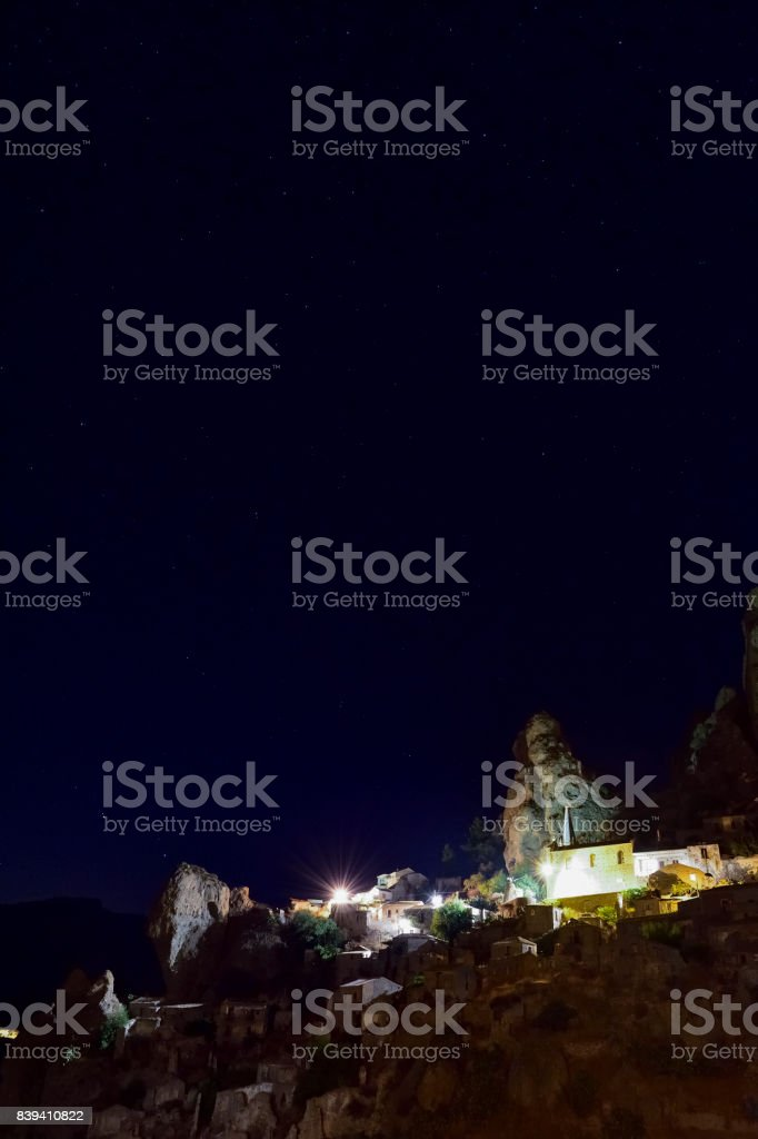 Landscape in the night stock photo