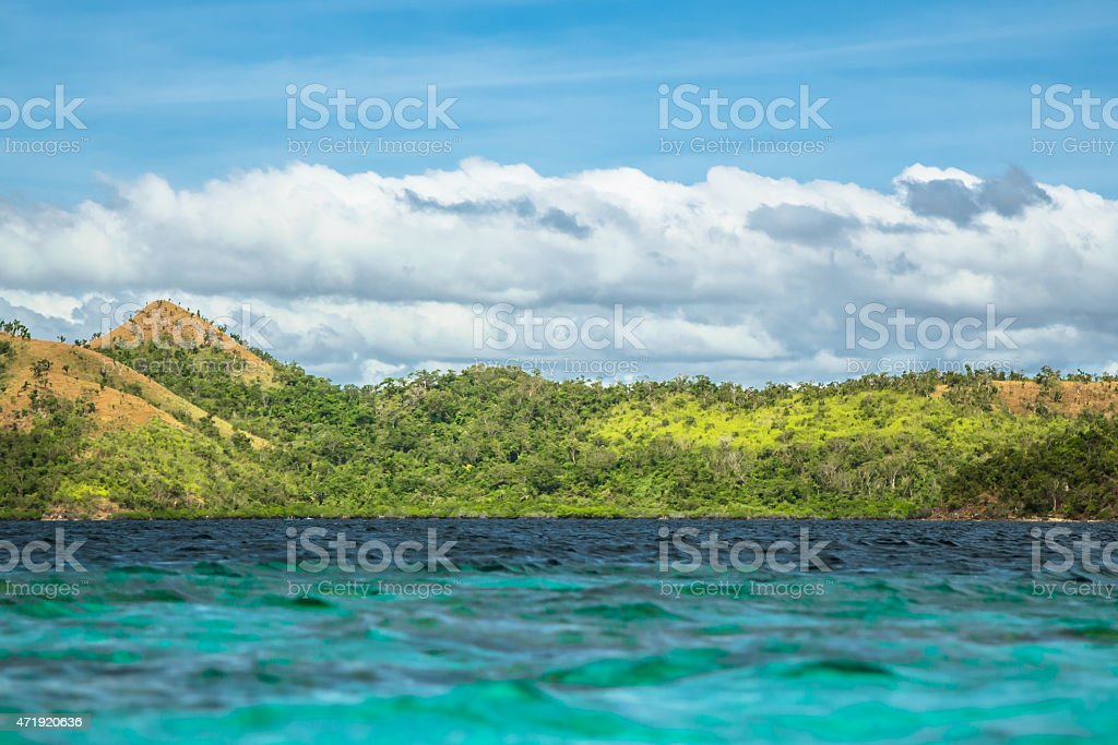 Landscape in the Philippines stock photo