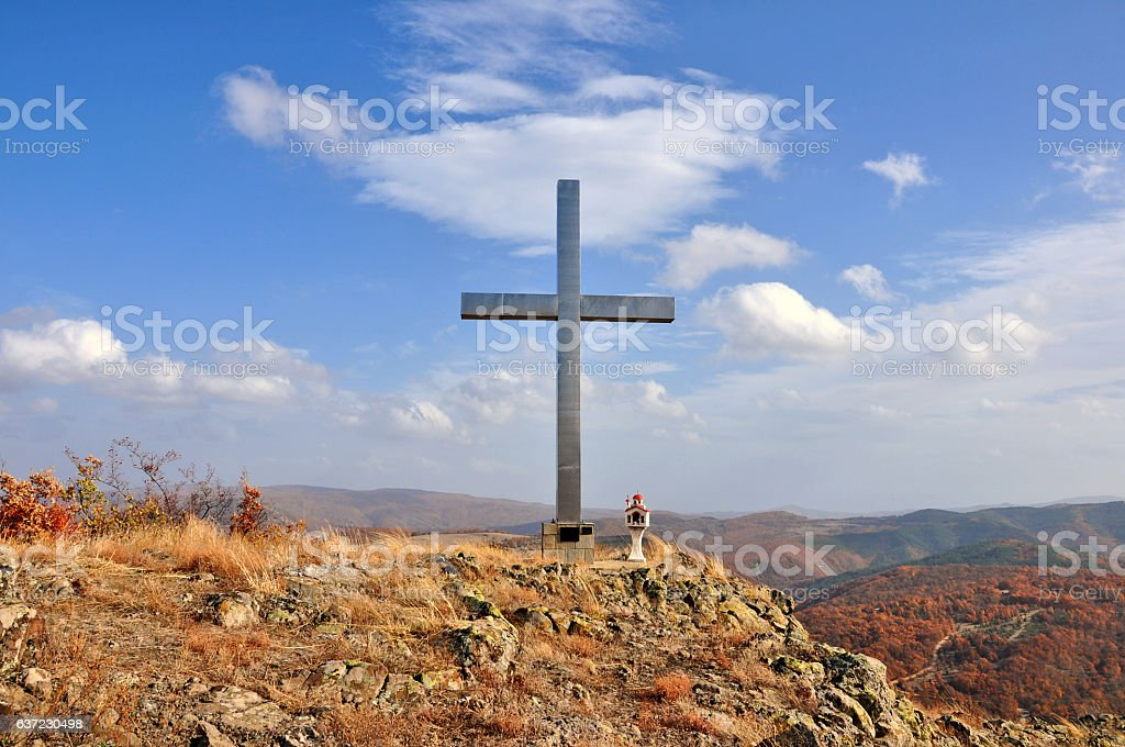 Landscape in the Rhodope mountain stock photo