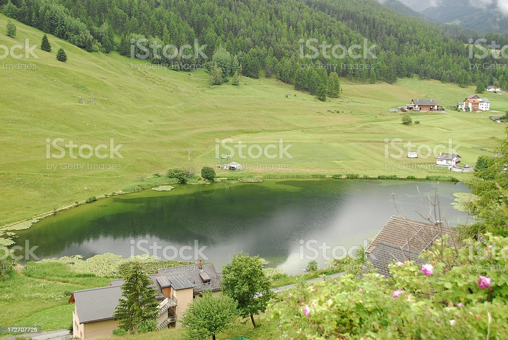 Landscape in the Switzerland stock photo