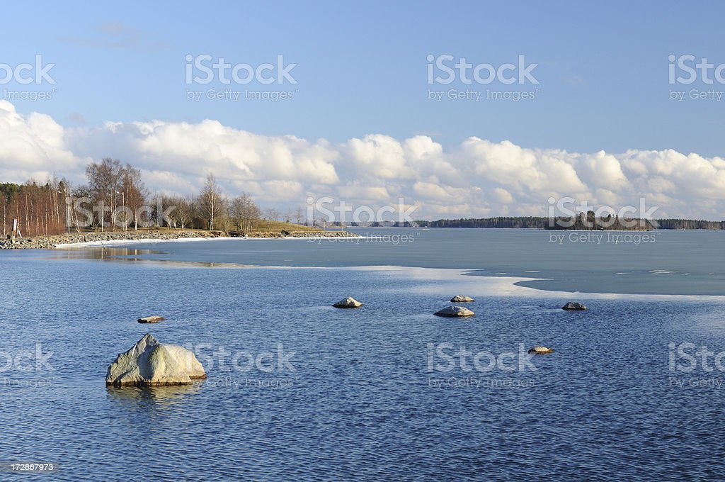 Landscape in Vaasa, Finland stock photo