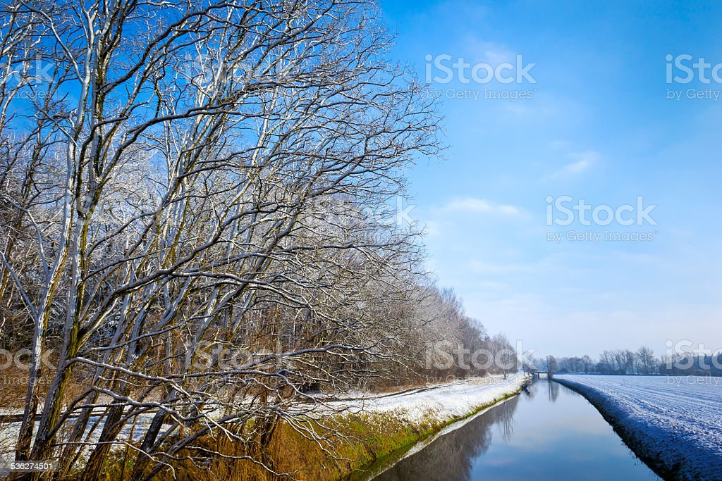 Landscape in Winter stock photo