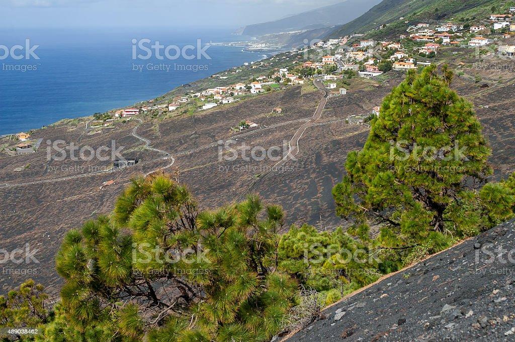 Landscape La Palma, Canary Islands stock photo