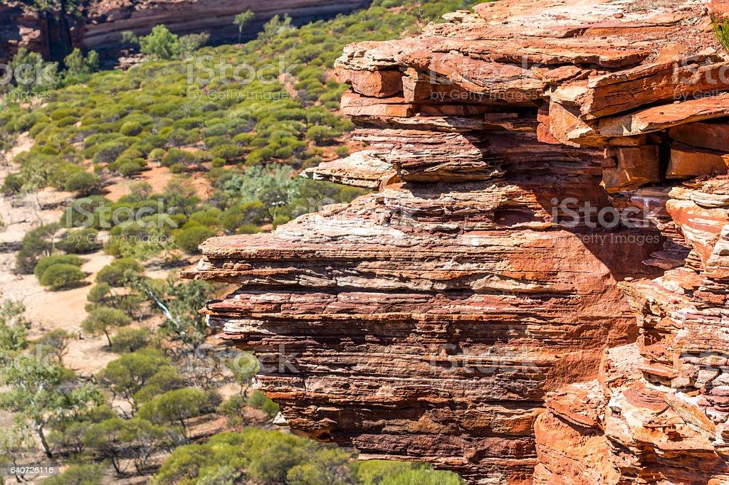 Landscape Limestone Bluff Kalbarri National Western Australia stock photo