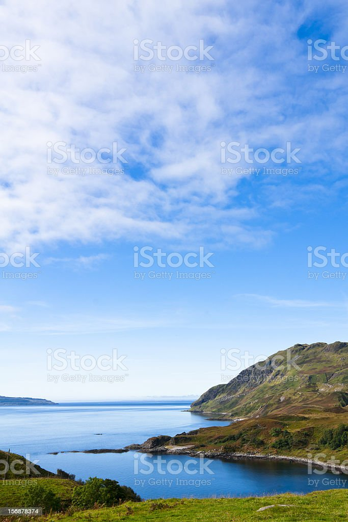 Landscape, Maclean`s Nose, Loch Sunart, Ardnamurchan, Scotland stock photo