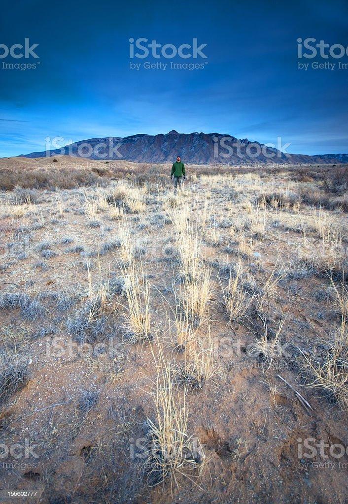 landscape man royalty-free stock photo