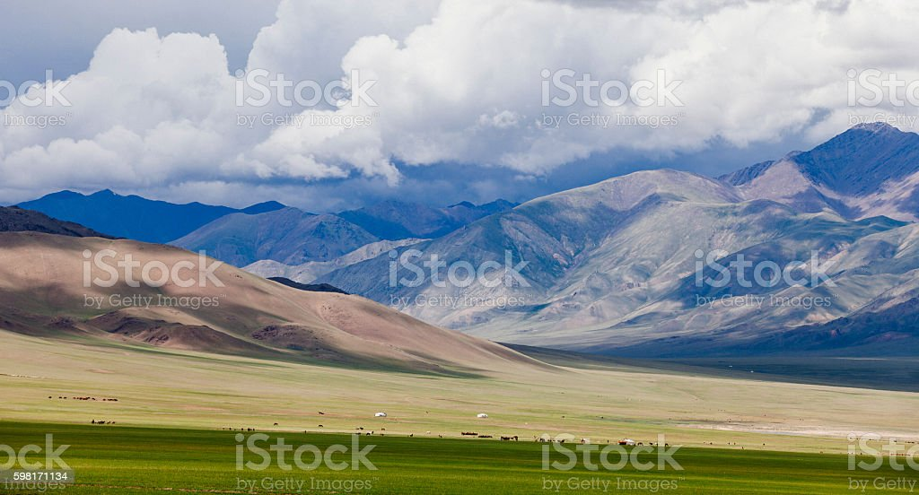 Landscape Mongolia stock photo