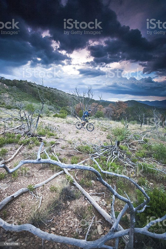landscape mountain biker royalty-free stock photo