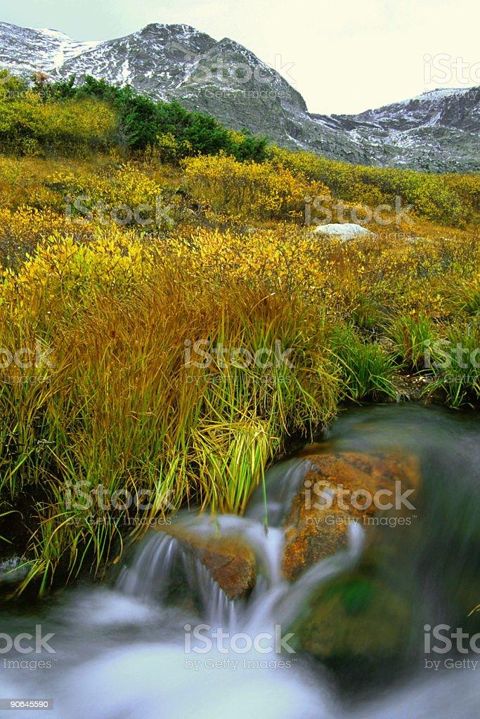 landscape mountain creek stock photo