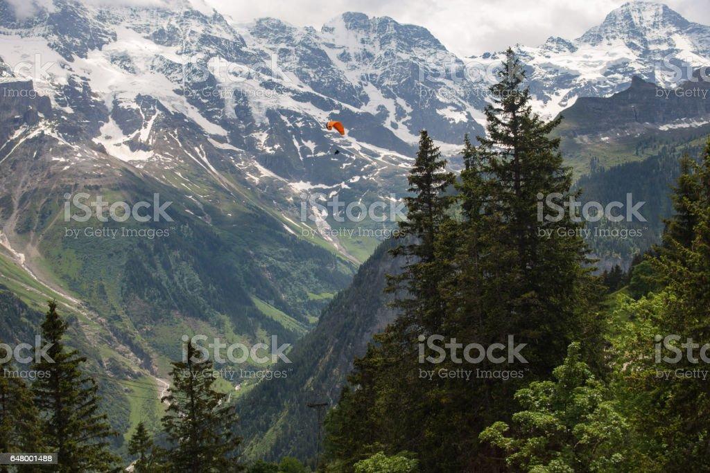 landscape mountain in Switzerland stock photo