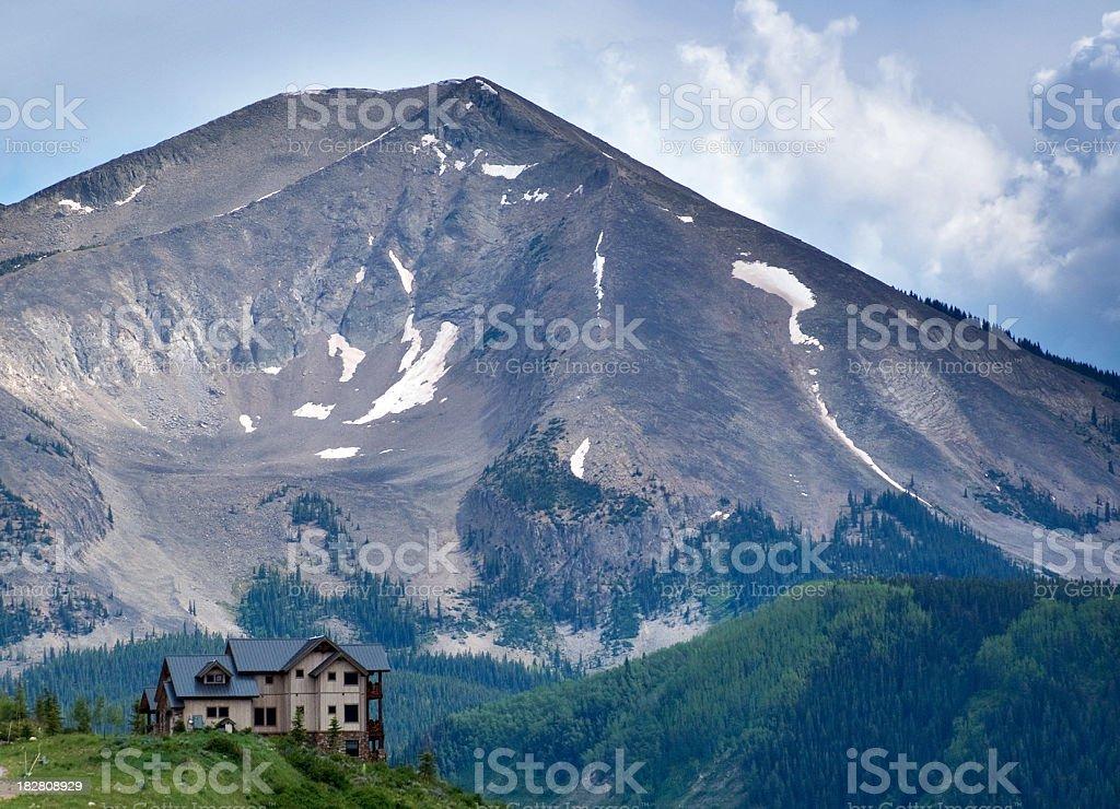 landscape mountain summer home stock photo