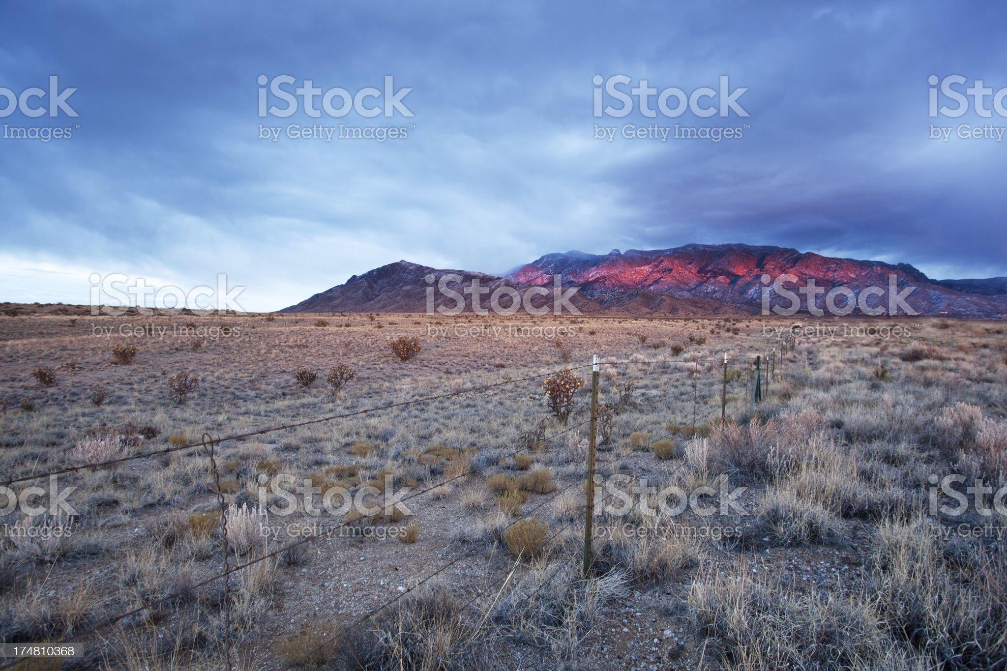 landscape mountain sunset sky royalty-free stock photo