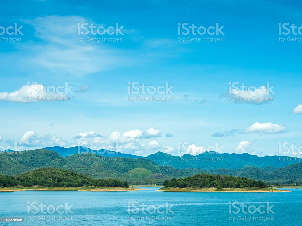 Landscape mountains & river royalty-free stock photo