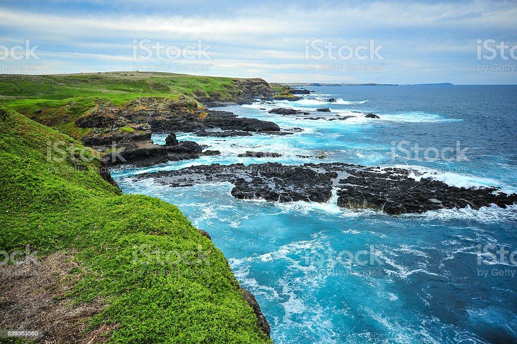Landscape nauture Phillip Island coastal Australia stock photo