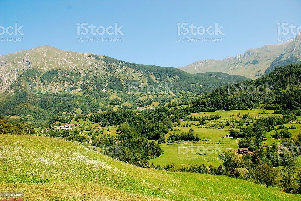 Landscape Near Dreznica stock photo