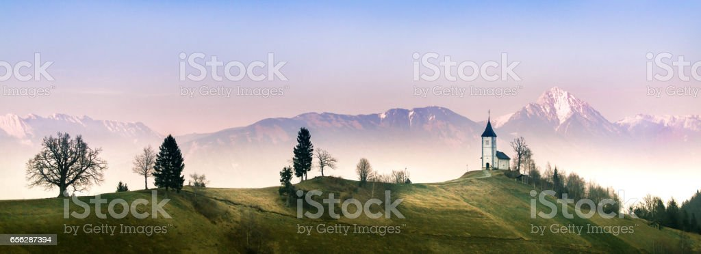 Landscape Near Jamnik stock photo