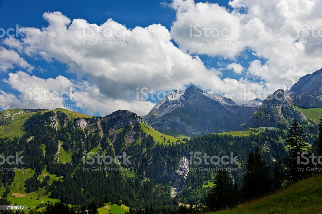 Landscape near Lauenensee royalty-free stock photo