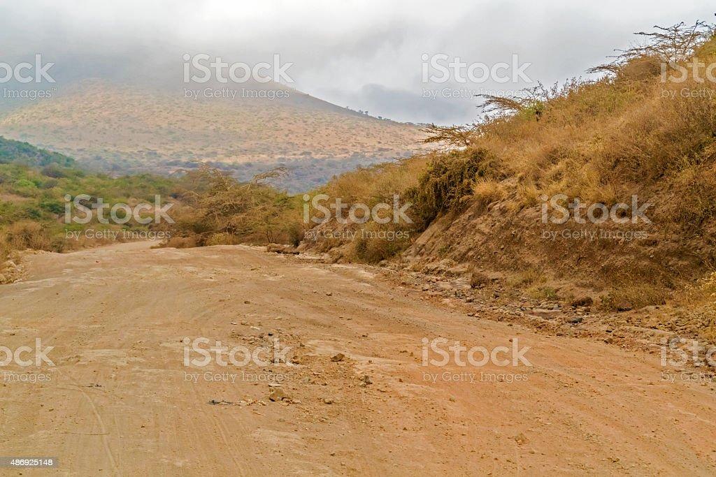 Landscape near Marsabit, Kenya stock photo