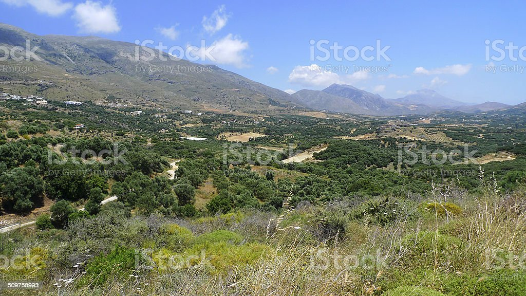 Landscape near Plakias stock photo