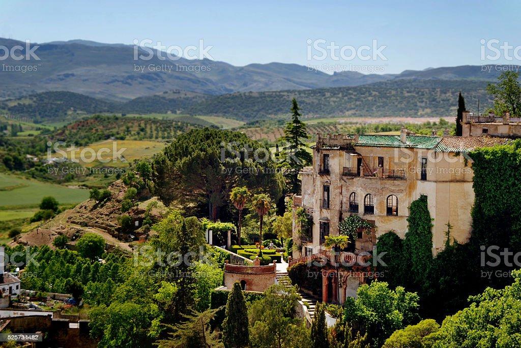 Landscape near Ronda in southern Spain stock photo