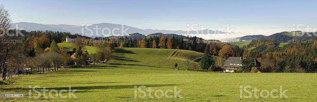 Landscape near St. M?rgen, Black Forest royalty-free stock photo