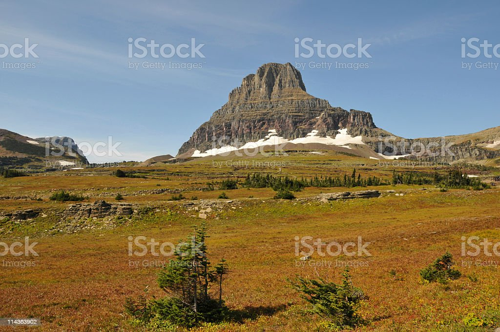 Landscape near the Logan Pass royalty-free stock photo