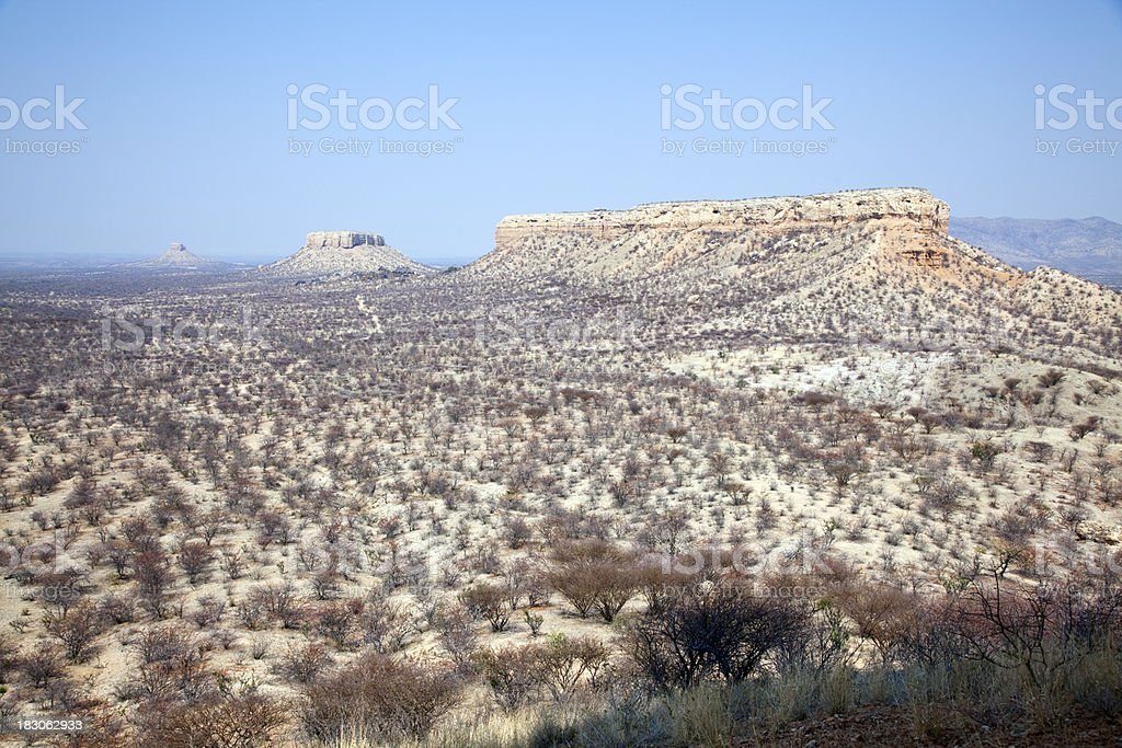 Landscape near Vingerklip, Namibia royalty-free stock photo